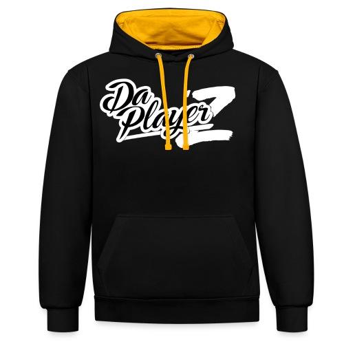 Daplayerz logo BLANC - Sweat-shirt contraste