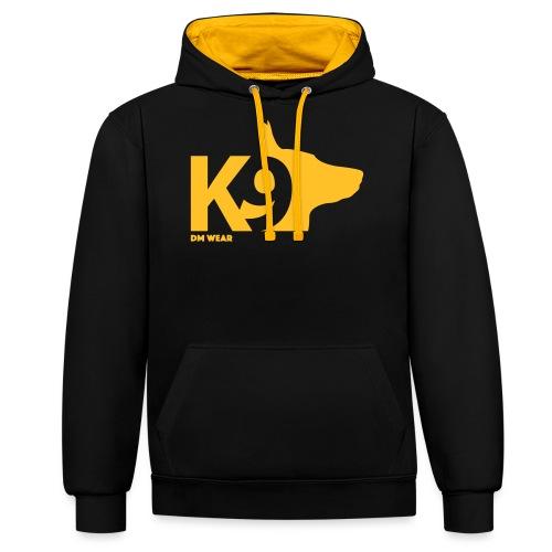 DM Wear K9 yellow big - Contrast Colour Hoodie