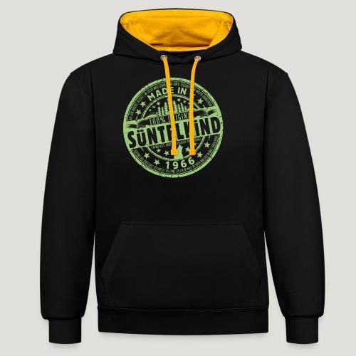 SÜNTELKIND 1966 - Das Süntel Shirt mit Süntelturm - Kontrast-Hoodie