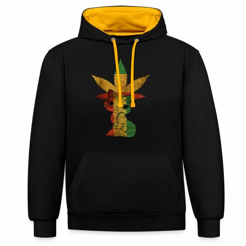 Ganja Kitty - Contrast Colour Hoodie