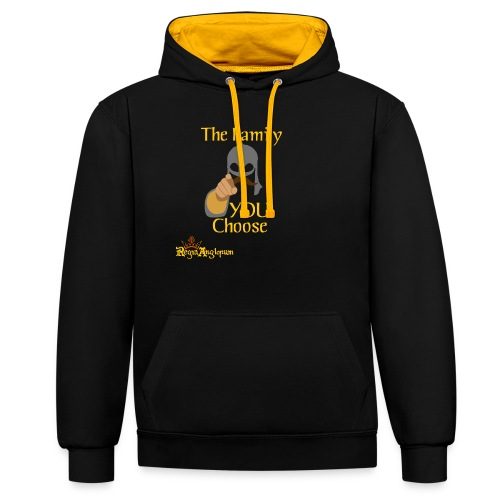 The Family You Choose - Contrast Colour Hoodie
