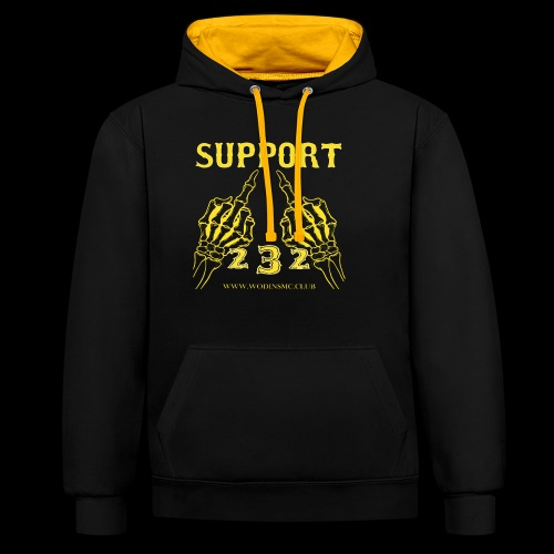 SUPPORT1 - Contrast Colour Hoodie