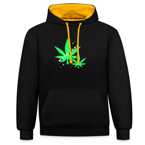 420 weed zone - Sweat-shirt contraste