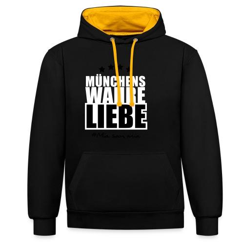 Münchens wahre Liebe - Kontrast-Hoodie