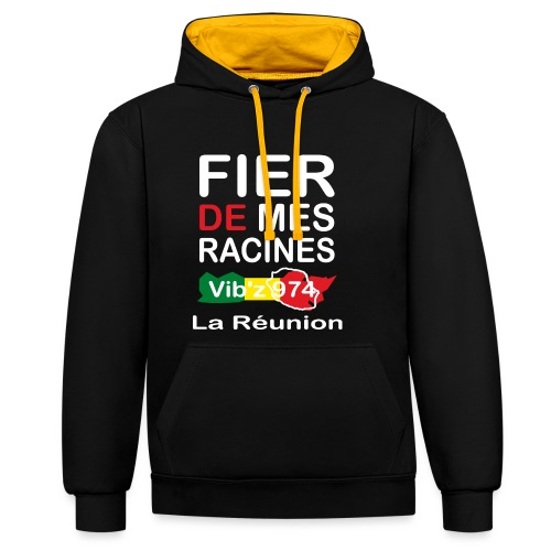 Fier de mes origines 974 - Sweat-shirt contraste
