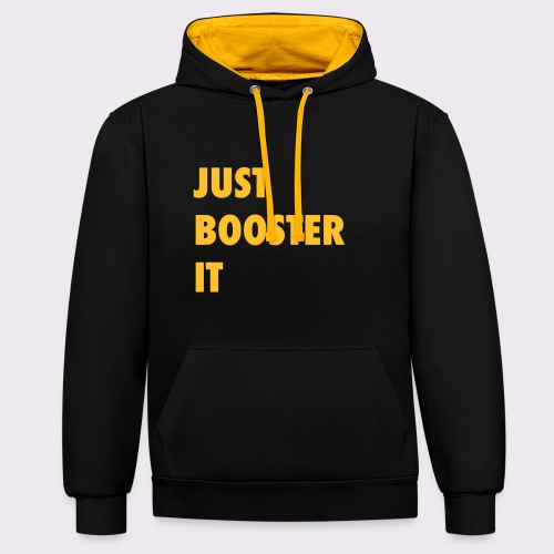 just boost it - Contrast Colour Hoodie