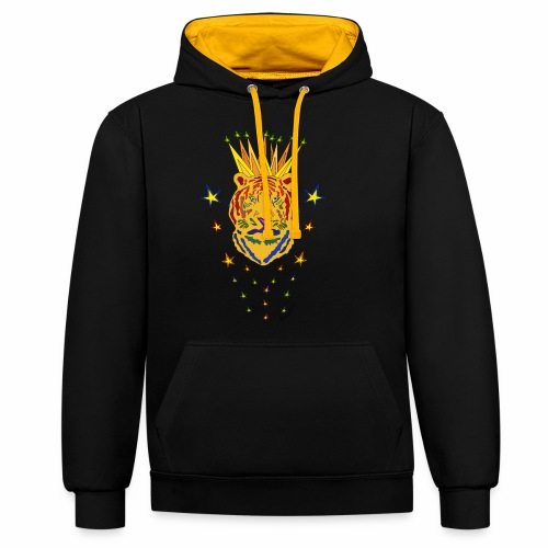 Star Tiger - Contrast Colour Hoodie