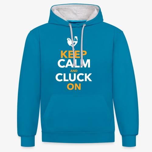 Keep Calm Cluck On - Kontrastihuppari