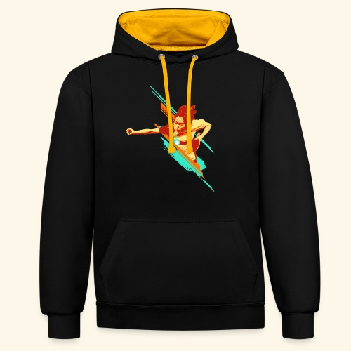 Just believe that you can achieve it, keep playing - Kontrast-Hoodie