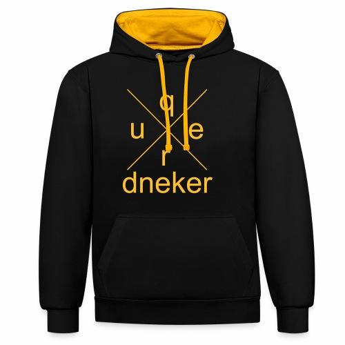 Quer-Dneker 1 - Kontrast-Hoodie