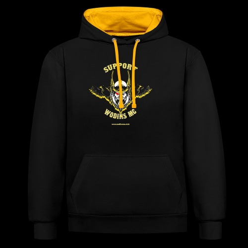 support3 png - Contrast Colour Hoodie