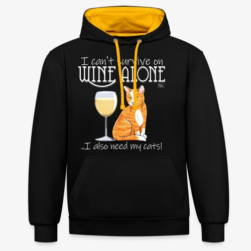 Wine Alone Cats II - Kontrastihuppari