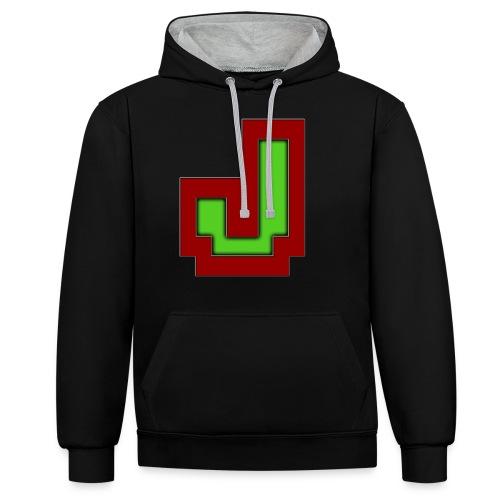 Stilrent_J - Kontrast-hættetrøje