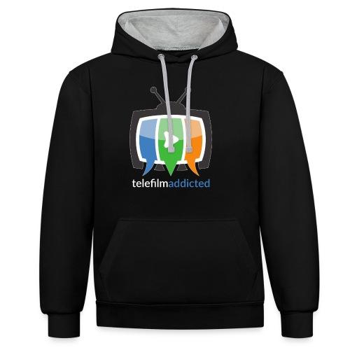 Logo Telefilm Addicted - Felpa con cappuccio bicromatica