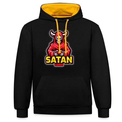 satan gamer - Sweat-shirt contraste