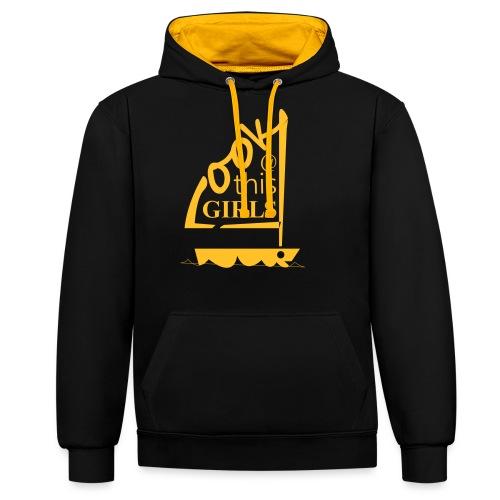 AndriesBik look thisGIRLS shirt witteletters - Contrast hoodie