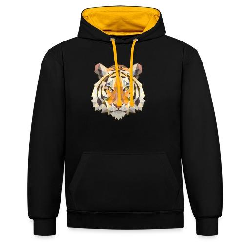 Tiger - Felpa con cappuccio bicromatica