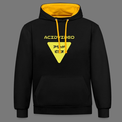 Acidvideo logo - Contrast Colour Hoodie