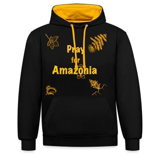 Pray for Amazonia - Kontrast-Hoodie