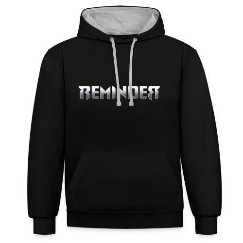 logo Reminder letters - Contrast hoodie