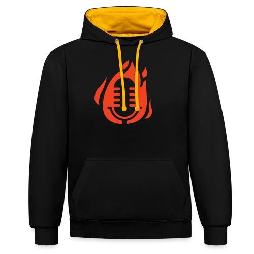 Fire Mikro Design - Kontrast-Hoodie