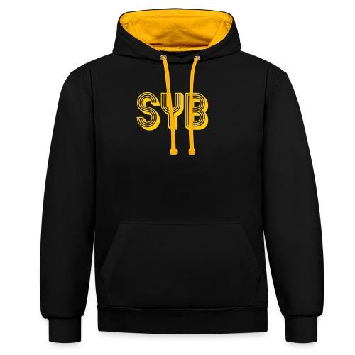 SYB Real Estate - Sudadera con capucha en contraste