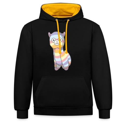 Jens the Llama - Kontrast-hættetrøje