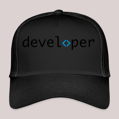 developer, coder, geek, hipster, nerd - Trucker Cap