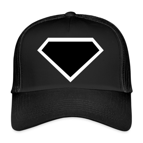 Diamond Black - Two colors customizable - Trucker Cap