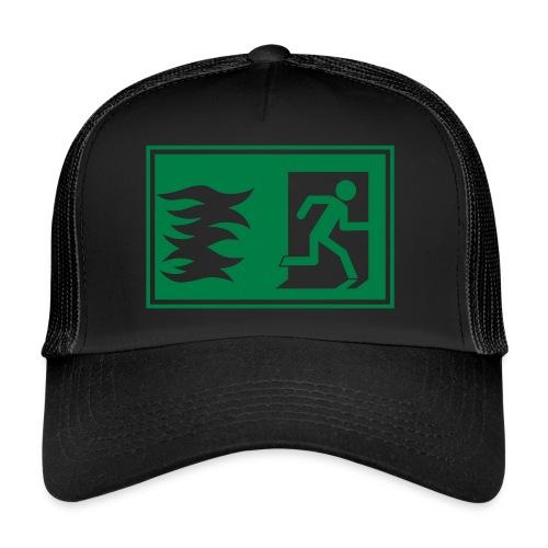 Notausgang / Feueralarm Symbol - Trucker Cap