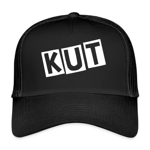 Black Kitten Under Tire on Cap - Trucker Cap