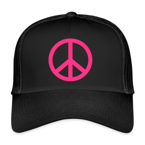 Gay pride peace symbool in roze kleur - Trucker Cap