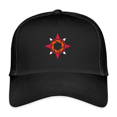 weiß rote rose 2 - Trucker Cap