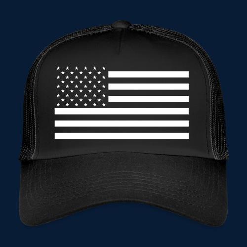 Stars and Stripes White - Trucker Cap