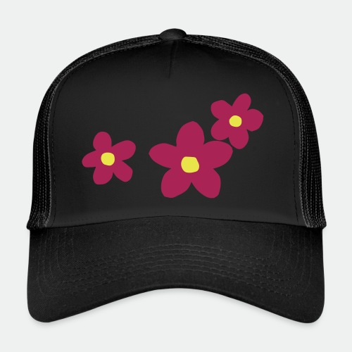 Three Flowers - Trucker Cap
