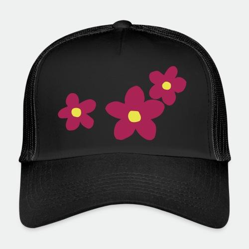 Three Flowers - Trucker Cap