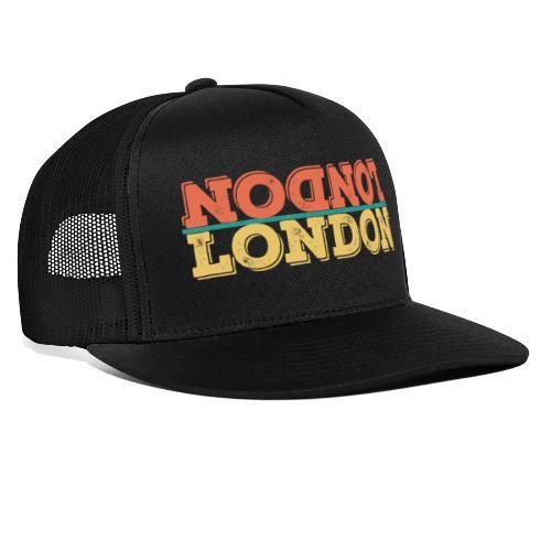Vintage London Souvenir - Retro Upside Down London - Trucker Cap
