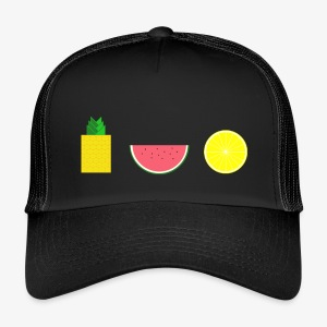 DIGITAL FRUIT Ananas Zitrone Melone - Trucker Cap