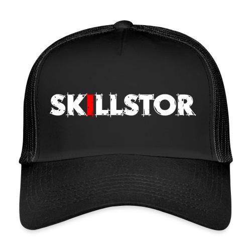 Wortmarke Skillstor weiss - Trucker Cap