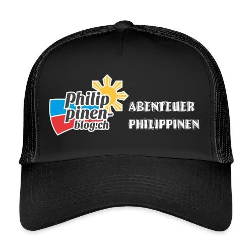 Philippinen-Blog Logo deutsch schwarz/weiss - Trucker Cap