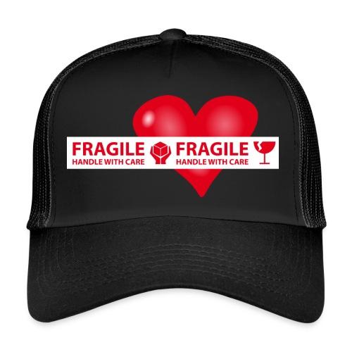 Var rädd om hjärtat - FRAGILE - HANDLE WITH CARE - Trucker Cap