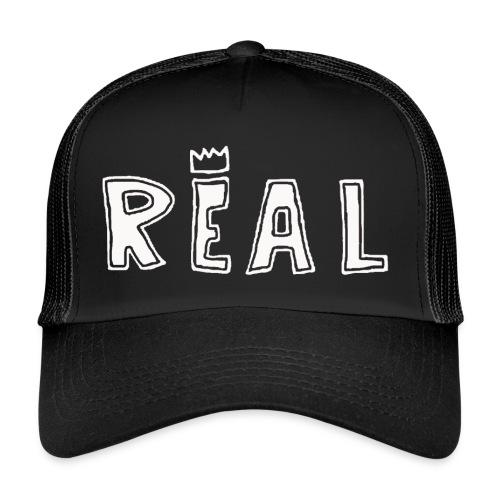 REAL (White) - Trucker Cap