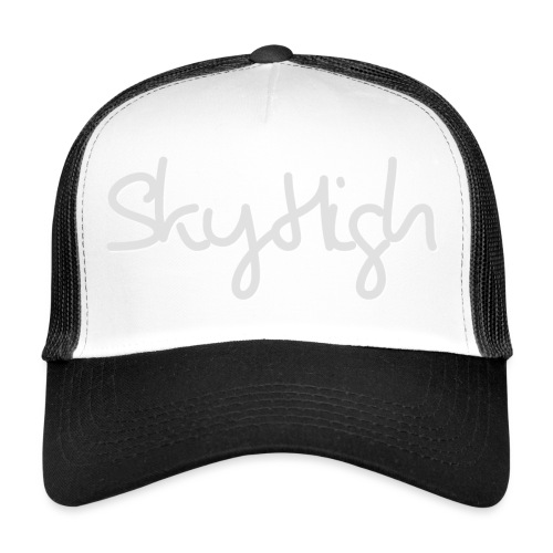 SkyHigh - Men's T-Shirt - Gray Lettering - Trucker Cap