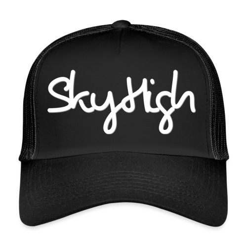 SkyHigh - Women's Hoodie - White Lettering - Trucker Cap