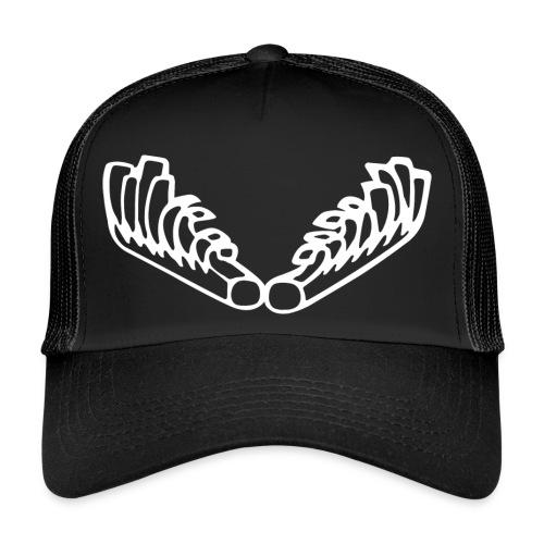 Kiehiset_logo_valk_vetoketjuhuppari - Trucker Cap
