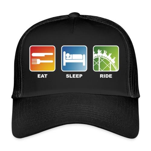 Eat, Sleep, Ride! - T-Shirt Schwarz - Trucker Cap