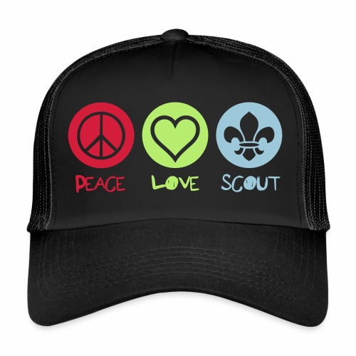 Peace Love Scout - Trucker Cap
