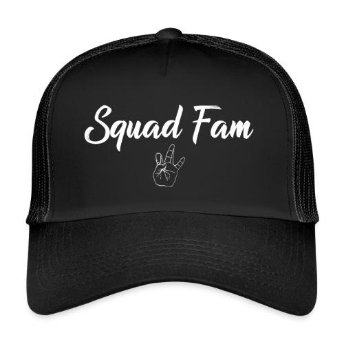 SquadFam WHITE - Trucker Cap