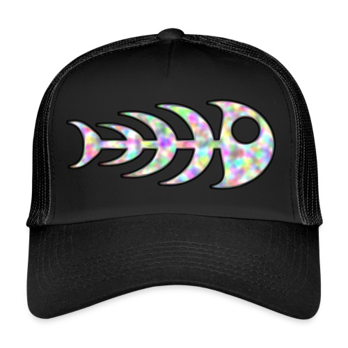 fish legs in rainbow colors - Trucker Cap