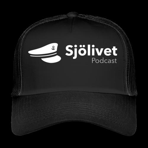 Sjölivet podcast - Vit logotyp - Trucker Cap
